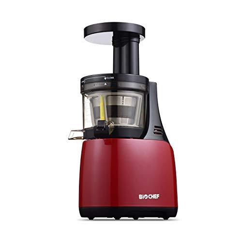 Estrattore di succo, BioChef Synergy-Slow Juicer, Estrattore di succo, lento, silenzioso, con spremitura a freddo (COLD PRESS) molto più ampio e FACILE da pulire (Rosso)