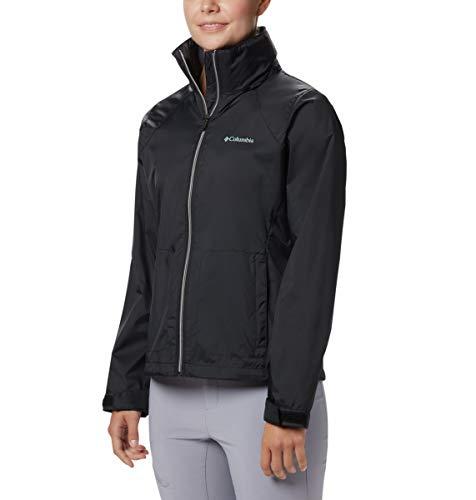Columbia Women's Switchback III Adjustable Waterproof Rain Jacket, Black, Medium