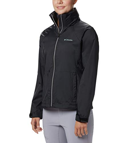 Columbia Women's Switchback III Adjustable Waterproof Rain Jacket, Black, Large