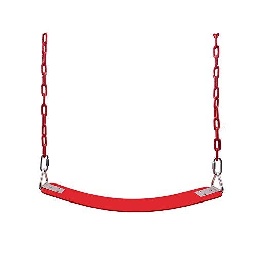 YaGFeng Swing Kids Asiento De Columpio Cadena De Servicio Pesado con Revestimiento De Plástico Juego De Accesorios De Reemplazo con Gancho De Resorte Perchas Columpio al Aire Libre