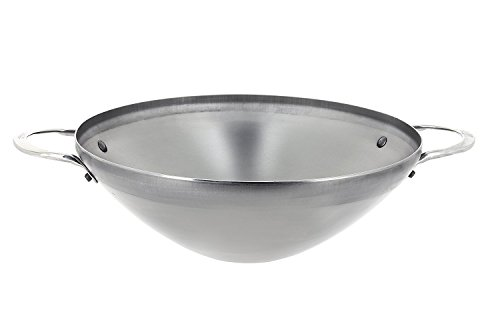 DE BUYER -5619.28 -wok mineral b 2 anses ø28cm