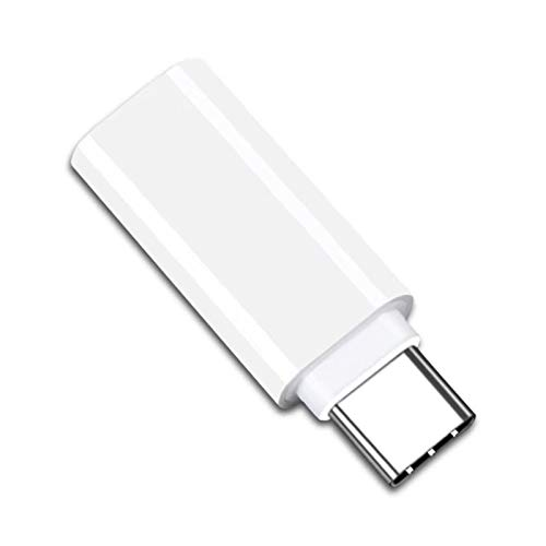 Adattatore da USB-C a jack per cuffie da 3,5 mm, adattatore audio USB tipo C compatibile con Samsung Galaxy S20 Ultra Z Flip iPad Pro Pixel2/2XL/3/Moto Z/Z2 e altri (bianco)