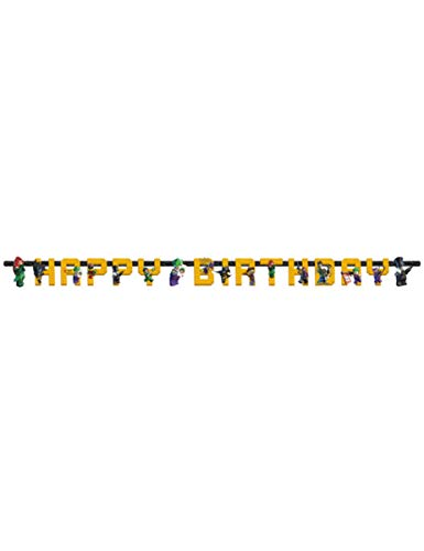 Generique - Happy Birthday Girlande Lego Batman 180 x 15 cm