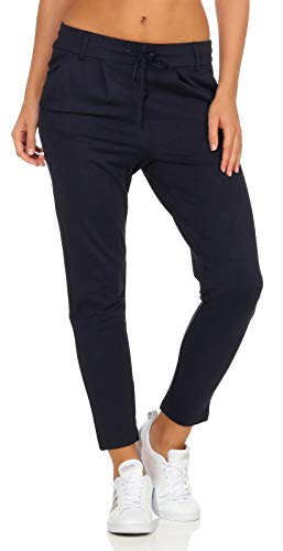 ONLY onlPOPTRASH EASY COLOUR PANT PNT NOOS, Pantalones Mujer, Azul (Night Sky), 34/L32 (Talla del fabricante: X-Small)