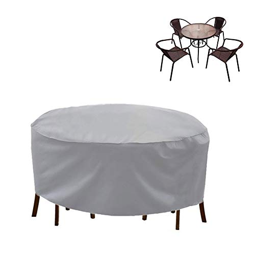 NINGWXQ Covers for Tuinmeubelen, Round Table Covers Waterproof Dust-proof Large Patio Set Cover, 2 kleuren, 30 Size (Color : Silver, Size : 240x100cm)