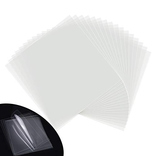 Blank Stencil Sheets Clear Craft Plastic 6 Mil Clear Mylar Stencil Sheets, 16 Pack,12 X 12 Inch
