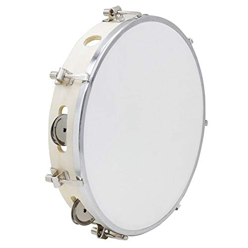 tellaLuna 10 Pulgadas Pandereta Capoeira Tambor de Cuero Pandereta de Madera Brasil Samba Instrumento de Musica de Percusion en Venta 150 D