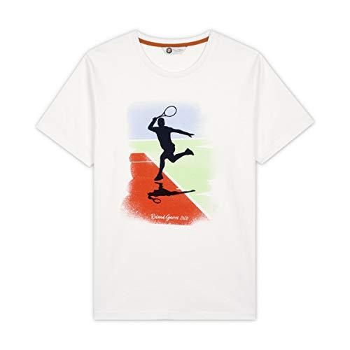 Roland Garros Nicky – Camiseta – Modelo Nicky – año 2020 – Blanco – De algodón – para Hombre – Talla L Hombre, Hombre, RTSM0320-BLA-XXL-OLD, Blanco, XXL