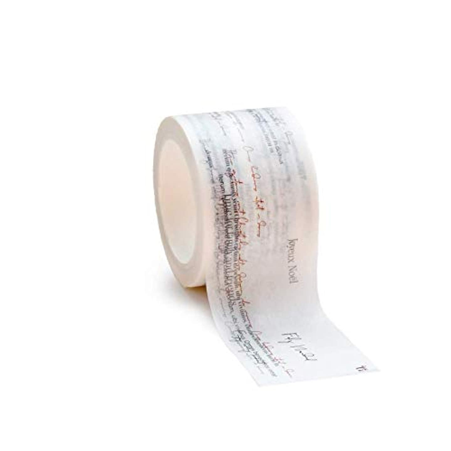 alexandraRenke Wt-AR-W0020 Christmas Typo Christmas Washi Tape, Paper, Grey-Red, 4.5 cm