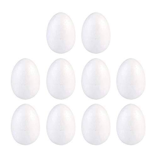 SOIMISS 10 palline di polistirolo 8 cm uova di Pasqua uova di polistirolo per fai da te e dipingere, palline di polistirolo per fai da te, giocattoli, matrimonio, Pasqua, penna stilografica