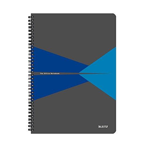 Leitz 44960035 Office Collegeblock A4 liniert, spiralgebunden mit PP Einband Blau