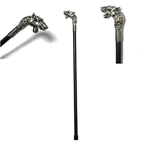 XUEPING Wolf Head Cane Styling Vivid Silber Metall Gentleman Cane Zwerg High-End Identity Symbol Unverzichtbares Zubehör