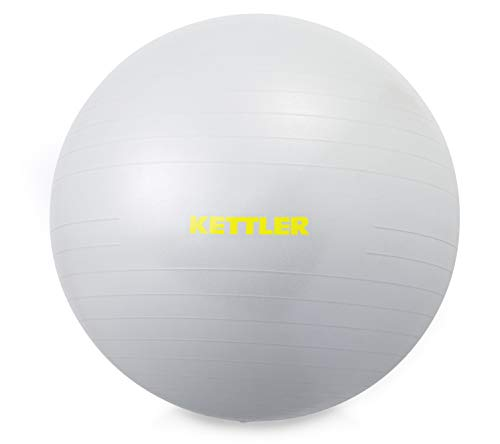 Kettler Unisex– Erwachsene Gym Ball, 65 cm, hellgrau