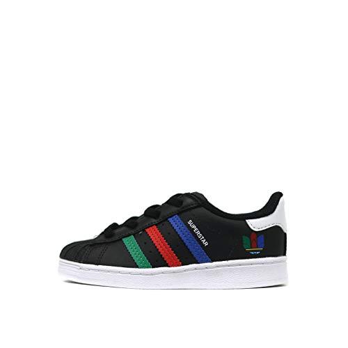 Adidas Superstar EL - Zapatillas deportivas para niño, color negro, FW5239 Negro 25