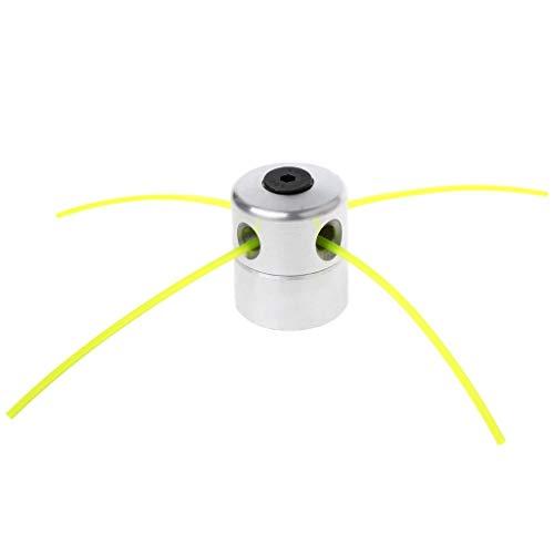 Bocotoer Cabezales De Desbrozadora Cabezal Desbrozador Universal De Aluminio con Cables para Segadora/Recortadora/Cortacésped Cabezal