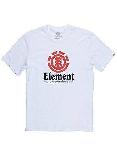 Element Vertical SS Camisetas, Hombre, Blanco (Optic White), M