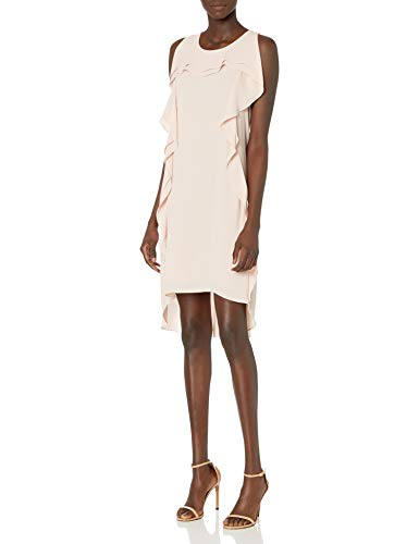 BCBG Max Azria Nikole Women's Asymmetric Ruffle Hi-Low Mini Dress Pink Size XXS
