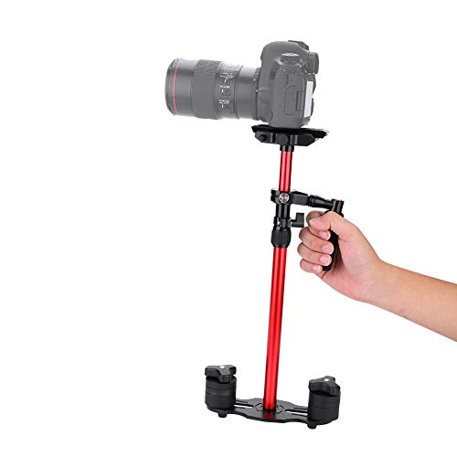 Topiky Estabilizador de cámara Manual, Gradienter de videocámara de Carga Ajustable y Estirable de 2 kg con Estabilidad Integral de 360 ​​° para cámara de Video DV DSLR sin Espejo