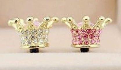 Bling Diamond Crown Ear New mail order phone Jack Pl Plug Antidust Dock Very popular! Cap