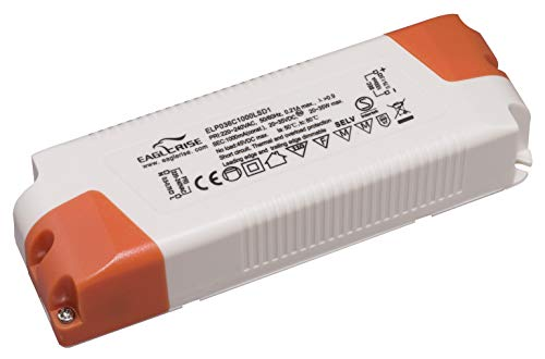 HuaTec Eaglerise LED Trafo Dimmbar 1000mA 20W-35W LED Netzteil Driver Treiber Transformator Konstantstrom für Lampen Leuchtemittel