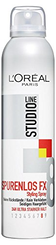 L'Oréal Paris Studio Line Spurenlos FX Styling Spray, 24h ultra-starker Halt, 6er pack (6 x 250 ml)