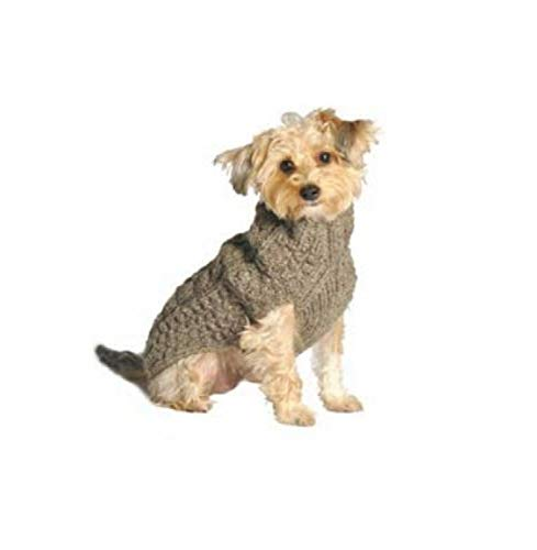 10. Chilly Dog Grey Cable Sweater