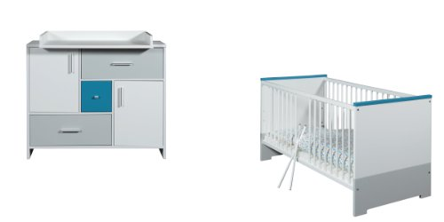 Schardt Sparset Candy Blue bestehend aus Kombi-Kinderbett inklusive Umbauseiten