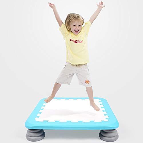 Kinderen Trampoline, 13cmX65cm Fitness Trampoline met Safety Pad, Stable Quiet Exercise Rebounder for Kids volwassenen Indoor/Tuin Workout