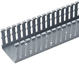 Panduit F1X4LG6 Type F Slotted Wall Wiring Duct, 0.2 in Narrow Finger Slot, 1 in W x 4 in D, PVC