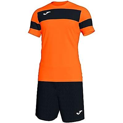 Joma Academy ll Conjunto de Fútbol, Niños, Naranja-Negro, XS