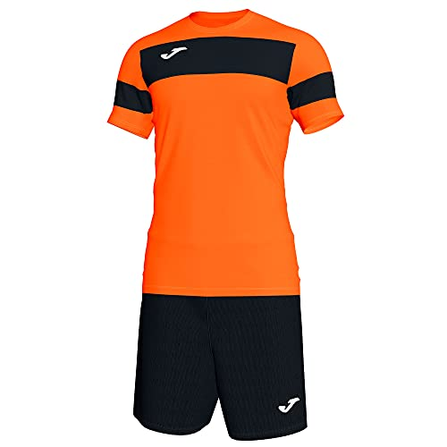 Joma Academy ll Conjunto de Fútbol, Niños, Naranja-Negro, 2XS