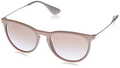 Ray-Ban RB4171 Erika Round Sunglasses, Dark Rubber Sand/Violet Brown Gradient, 54 mm