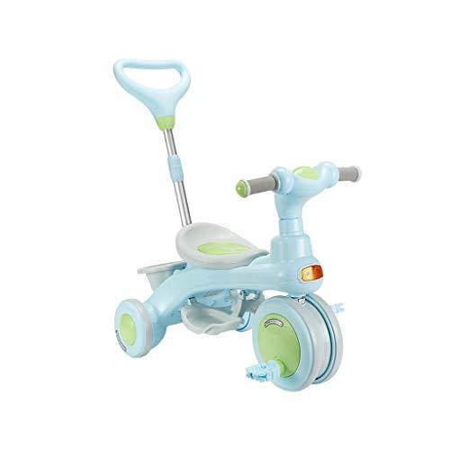 3 ruedas 1, 2, y 3 años de edad, sin niños bicicleta infantil de los niños del triciclo de tres ruedas de plegar el cochecito de tres ruedas del pedal de peso ligero de interior de cumpleaños regalos