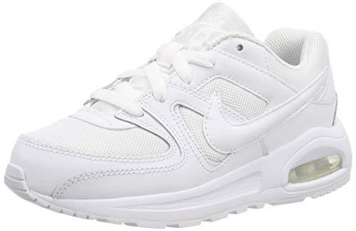 Nike Air Max Command Flex (PS), Football Shoe, Bianco White, 31.5 EU