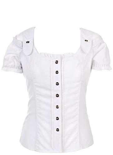 Spieth & Wensky - Damen Trachten Bluse in Weiß, Pilla (009568-0200), Größe:44, Farbe:Weiß (2014)