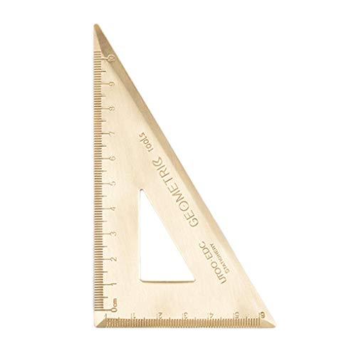 weilifang Messing Triangular Lineal 180-Grad-Winkelmesser BAU Skizze Geometrischer Vintage Brass Lineal Jahrgang Bild Zeichenwerkzeug Lineal Messe