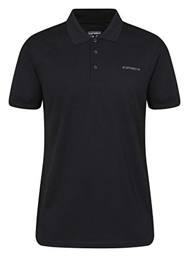 ICEPEAK Herren Kyan Pique Polo Shirt, schwarz (990), S