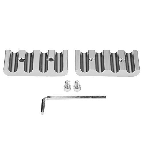 Fydun Separatori di fili di candela Kit di separatori di filo di candela in alluminio (Argento)