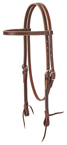 Weaver Leather Latigo Leather Browband Headstall, Brown