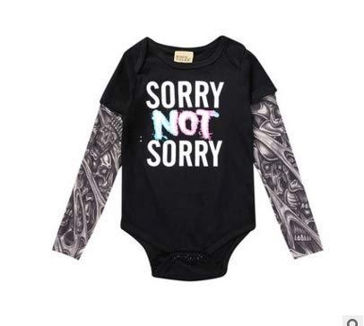 Haokaini Pasgeboren Baby Lange Tattoo Mouw Kerst Romper Jumpsuit Bodysuit voor Baby Peuter