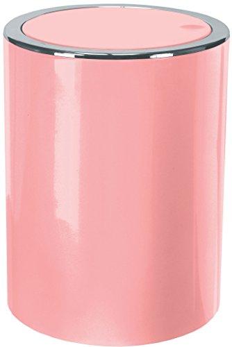 Gedy Clap Papelera 5 l, Rosa, 19x19x24.5 cm
