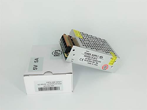 RP3 Fuente de Alimentación Conmutada AC 110/220V a DC 5V DC 5A 25W, Transformador Convertidor para Pantalla LED