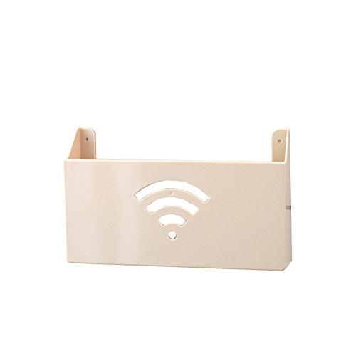 Hosaire Cute Small WiFi Router Estante Estante de Almacenamiento decoración Caja Intercalar Colgar en la Pared Router Estante de Pared Creative Caja de Almacenamiento Rack de Almacenamiento (Beige)