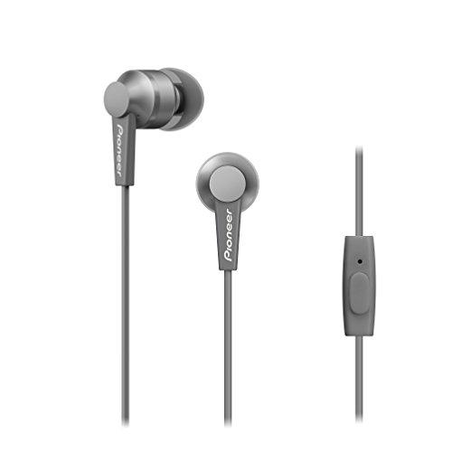 Pioneer SE-C3T(H) In-Ear Kopfhörer (Aluminiumgehäuse, Bedienelement, Mikrofon, Silikon-Ohrstöpsel, leicht-kompakt-bequem, Industrial Design, für iPhone, Android Smartphones), Space Grey