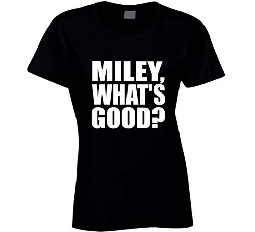HABAH Miley What's Good Miley Cyrus T-Shirt, Schwarz Gr. M, grün