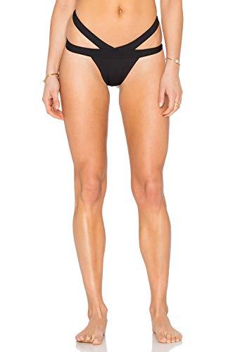 Kopper & Zink Mia Double Waisted Bikini Bottom, Black (Medium)