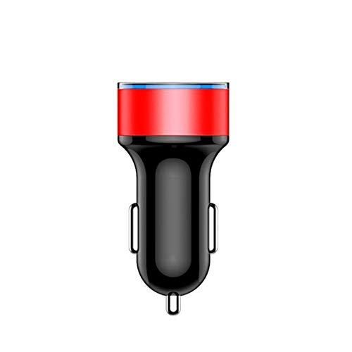N\A Zócalo de Encendedor de Cigarrillos de Coche Zócalo de Cigarrillo Más Ligero 3.1A Dual USB Cargador de Coche 2 Puerto LCD Pantalla 12-24V Cargador de Coche Adaptador de Corriente Coche Estilo
