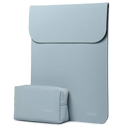 HYZUO 13 Pulgadas Funda Protectora Ordenador Portátil Maletín de Bolsa Compatible con 2018-2020 MacBook Air 13 A2179 A1932/ 2016-2020 MacBook Pro 13/ DELL XPS 13/ Surface Pro X 7 6 5 4, Azul pálido
