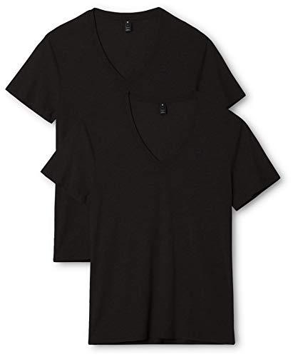 G-STAR RAW Base Htr V T S/s 2-Pack Camiseta, Negro (Solid Black 2019), XXL para Hombre
