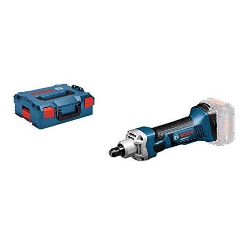 Bosch Professional 18V System Akku Geradschleifer GGS 18 V-LI (Leerlaufdrehzahl 22.000 min-1, ohne Akkus und Ladegerät, in L-BOXX)